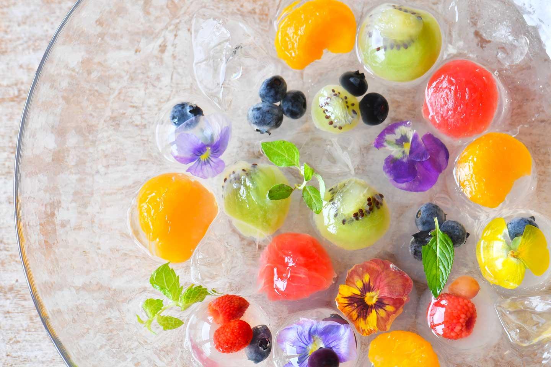 エディブルフラワー(食用花)の九龍球